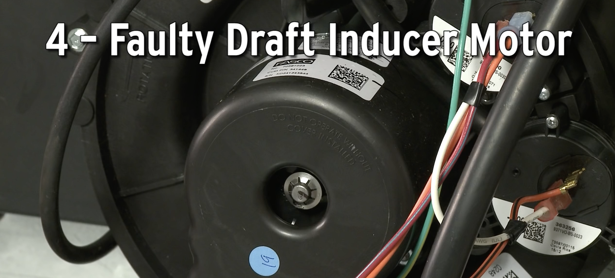 Faulty Draft Inducer Motor